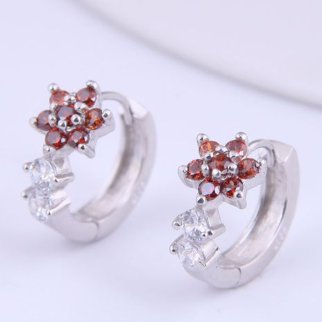 Korean fashion sweet simple petals inlaid zircon personalized earrings NHSC272801's discount tags