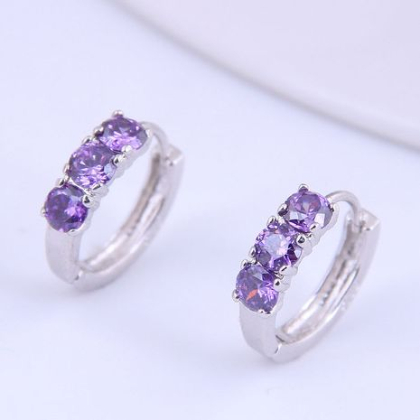 Korean fashion sweet  simple inlaid zircon earrings NHSC272800's discount tags