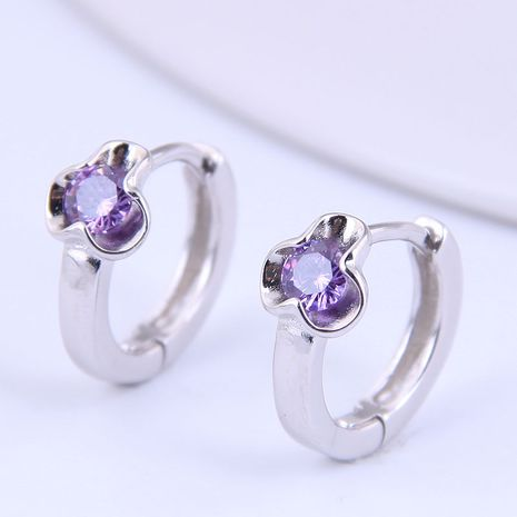 Korean fashion sweet flowers inlaid zircon earrings NHSC272951's discount tags