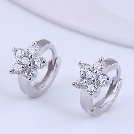 Korean fashion sweet flowers inlaid zircon earrings NHSC272950's discount tags