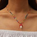 creative handmade rice beads cute mushroom necklace NHLA272628
