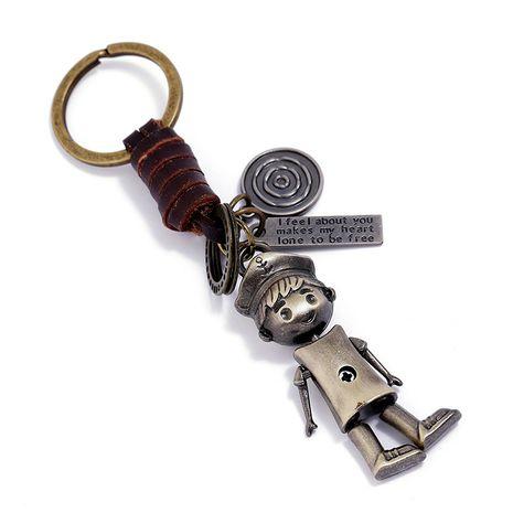 Retro handgewebter Rindsleder-Schlüsselbund NHPK272643's discount tags