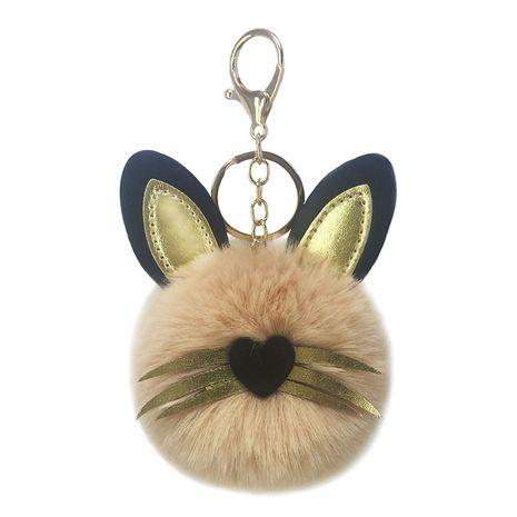 new PU cat fur ball keychain  NHAP272646's discount tags