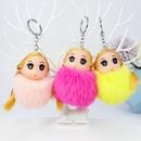 Rex rabbit fur ball blond princess plush doll key chain NHAP272648