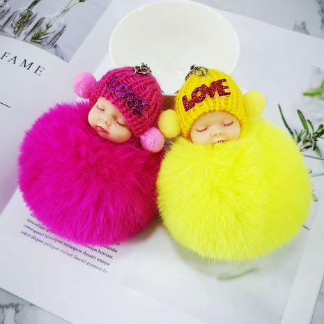 Porte-clés boule de cheveux poupée mignonne endormie créative NHAP272650's discount tags