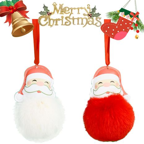 creative PU leather Santa Claus keychain  NHAP272655's discount tags