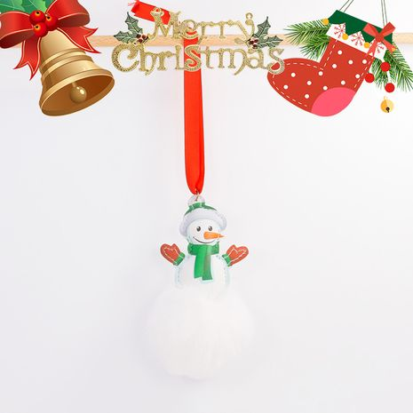 8CM imitación rex conejo bola de piel colgante creativo Santa muñeco de nieve llavero NHAP272666's discount tags