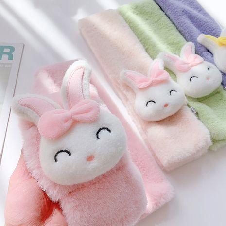 nouvelle écharpe pour enfants en peluche de couleur unie d'hiver NHCM272707's discount tags