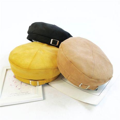 boina de gamuza de invierno sombrero casual con hebilla retro británica NHCM272739's discount tags