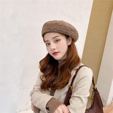 Sombrero retro de boina de color sólido de moda NHCM272745's discount tags
