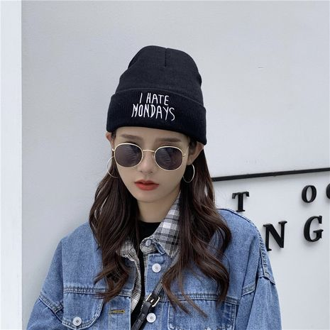 earmuffs embroidery knitted hats NHCM272755's discount tags