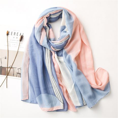 cotton and linen beach geometric printing scarf  NHGD272764's discount tags
