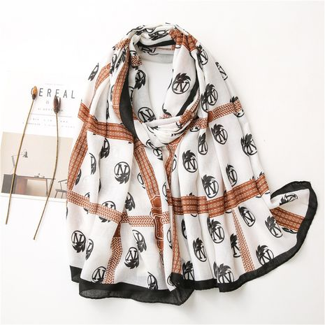 Korean silk cotton and linen scarf shawl   NHGD272766's discount tags