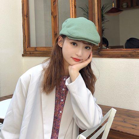 Otoño e invierno nuevo sombrero de color sólido de boina de lana para mujer NHTQ272796's discount tags