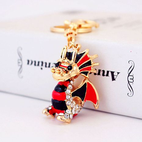 Creative cartoon crystal diamond Chinese dragon zodiac keychain  NHAK272806's discount tags