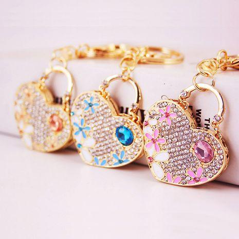 Llavero de pareja de gemas de flores de amor creativo coreano NHAK272812's discount tags