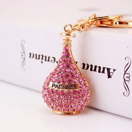 Korean  creative diamond perfume bottle key chain  NHAK272822's discount tags