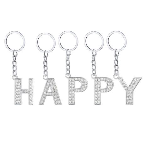hot 26 English letters diamond alloy keychain  NHAP272831's discount tags