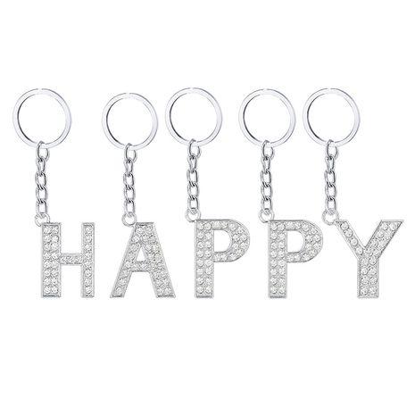 Caliente 26 letras inglesas llavero de aleación de diamantes NHAP272831's discount tags
