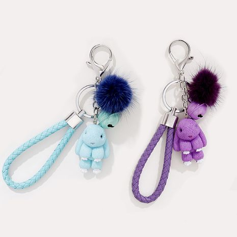 new cute resin rabbit hat bear keychain  NHAP272832's discount tags