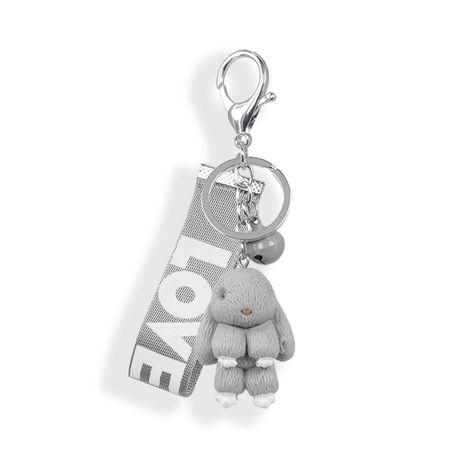 lindo llavero con forma de conejo campana Love trenzado con cinturón NHAP272840's discount tags