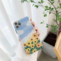 Sunflower phone case suitable for 11Promax precision hole Apple XS XR phone case iPhone7 8plus  NHFI272910