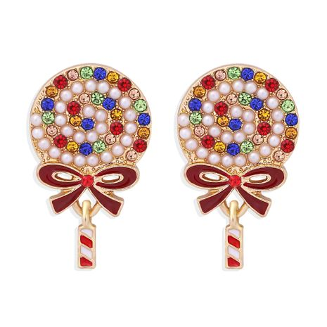 fashion  pearl colored diamonds lollipop earrings NHJQ273512's discount tags
