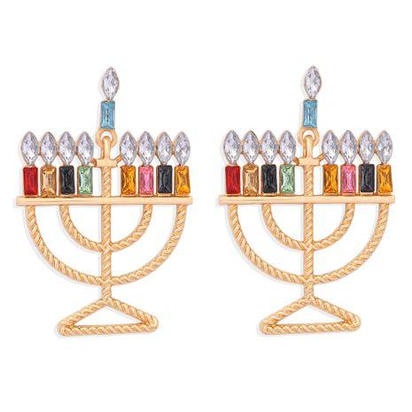 boucles d'oreilles créatives en forme de bougie en diamant de couleur NHJQ273511's discount tags