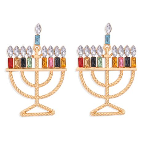 creative  colored diamond candle cup earrings NHJQ273511's discount tags