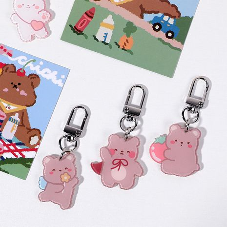three-dimensional cartoon keychain  NHHE272938's discount tags
