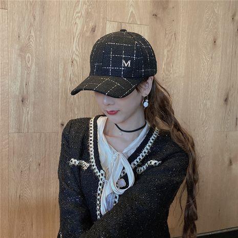 invierno nuevo negro plaid M moda gorra de béisbol casual NHCM272979's discount tags