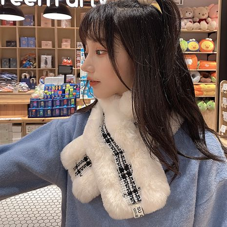 Winter rabbit fur scarf  NHCM272995's discount tags