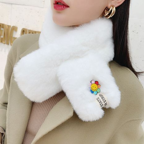 Sunflower autumn and winter imitation rex rabbit fur scarf NHCM273002's discount tags