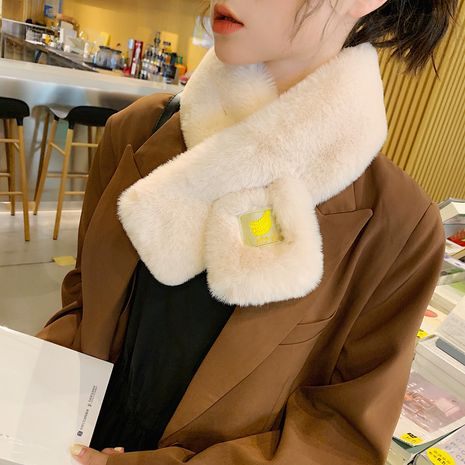 winter fruit imitation rex rabbit fur scarf NHCM273013's discount tags