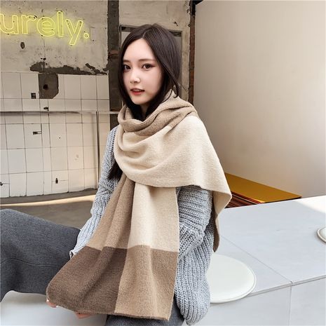 winter Korean versatile knitted long thick woolen scarf NHCM273015's discount tags