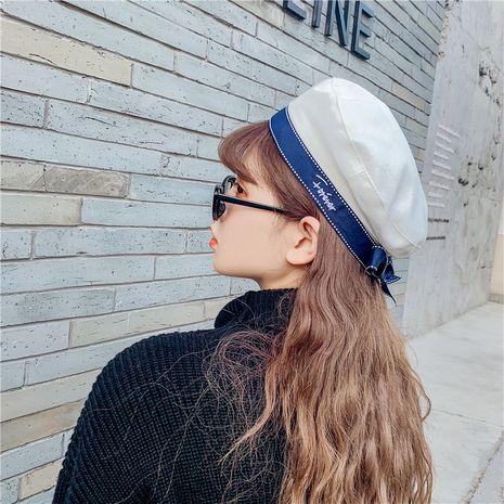 boina de algodón y lino sombrero octogonal azul marino británico NHCM273026's discount tags