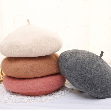 Herbst und Winter Wolle Baskenmütze NHCM273047's discount tags