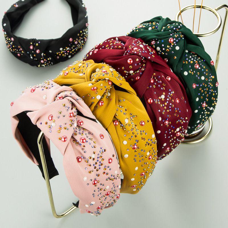 new korean  colorful diamond headband NHLN273057