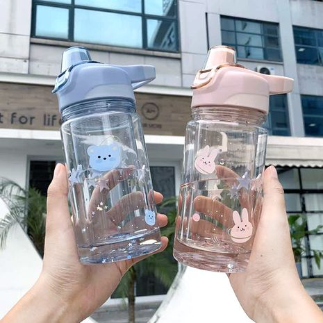 Fashion large-capacity portable handle double layer  plastic water cup  NHtn273069's discount tags