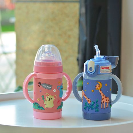 Creative new children's plastic cup baby straw cup  NHtn273087's discount tags