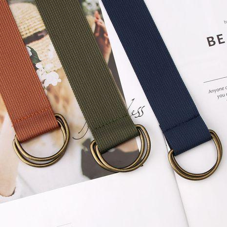 cinturón casual simple cinturón de lona cinturón de mono de color caramelo para hombre NHJN273109's discount tags