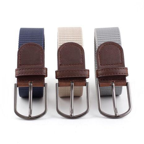 Korean ladies wild canvas unisex pin buckle  pants belt  NHPO273113's discount tags
