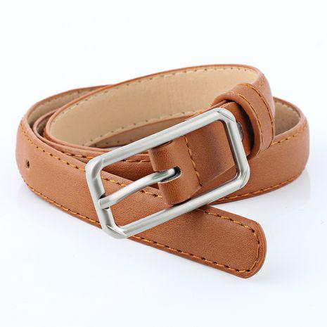 New PU imitation leather thin belt NHPO273115's discount tags