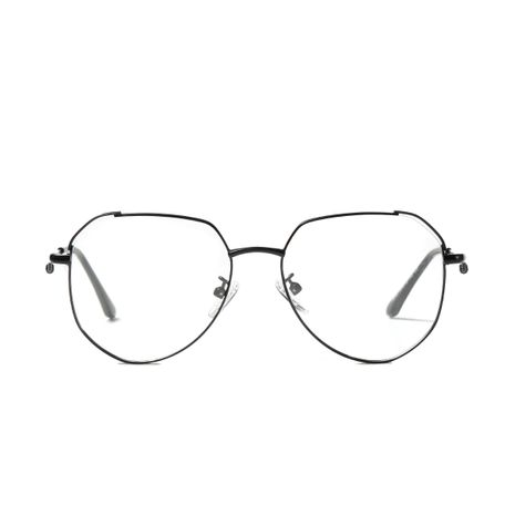 fashion anti-blue light discoloration metal flat glasses NHXU273133's discount tags