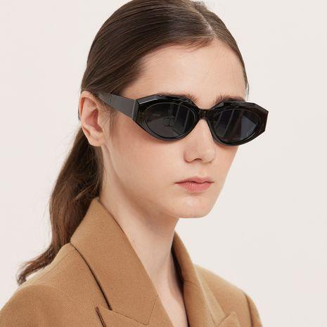 Polygonal Retro Fashion Sunglasses NHXU273136's discount tags