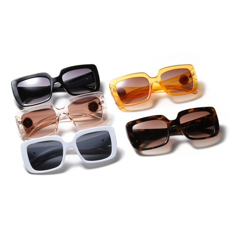 square brick retro fashion sunglasses NHXU273145's discount tags