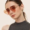 peach heart new  tassel love metal sunglasses  NHXU273156