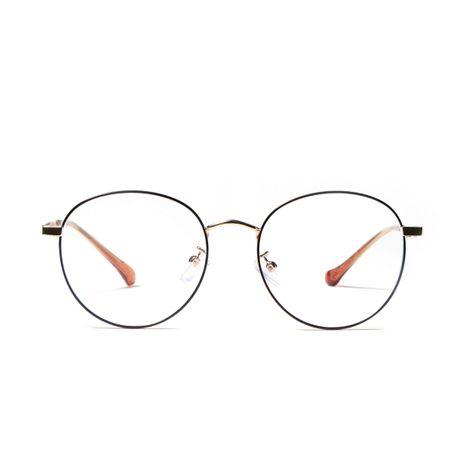 round metal anti-blue light flat glasses NHXU273157's discount tags
