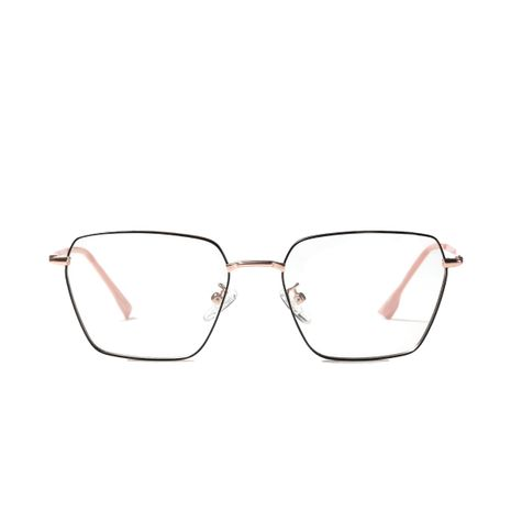 simple  light color mirror fashion metal flat glasses NHXU273160's discount tags