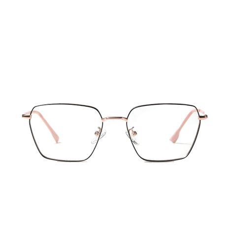 lunettes plates en métal de mode miroir de couleur claire NHXU273160's discount tags